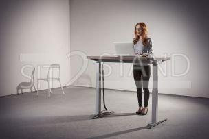 výškově nastavitelný stůl, pracovní, kancelářské, počítačové PC stoly sit2stand